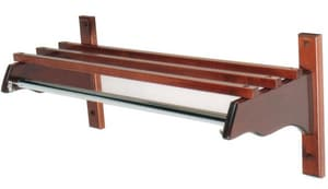 Central Specialties Wood Coat Rack with Wood Top Bar and 1 in. Hanging Rod in Mahogany CTJFM