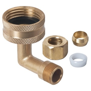 Brass Craft FHT x OD Tube Brass Elbow with Nut and Sleeve BHES612WNMX