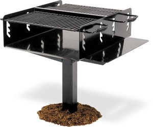 Ultra Play Systems 28 in. Freestanding Grill with Utility Shelf U621
