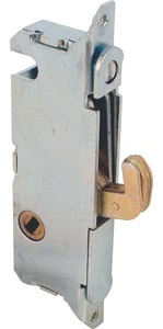 Primeline Products 3-11/16 in. Steel Mortise Lock for Rounded Faceplate with 45-Degree Keyway PMP2014
