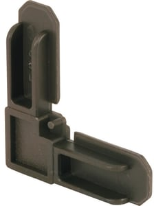 Primeline Products 5/16 in. Plastic Corner in Bronze 50-Pack PMP772850