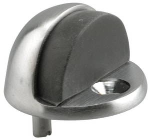 Primeline Products Cast Brass Door Stop in Satin Chrome PMP4544