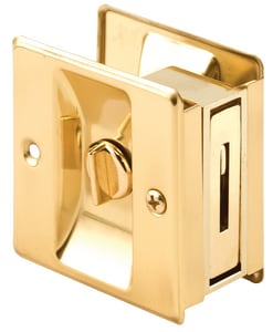 Primeline Products 2-3/4 in. Pocket Door Brass Privacy Lock PMP6771