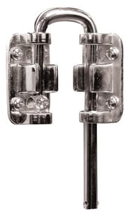Primeline Products 1-1/4 x 1-1/8 in. Steel Door Security Lock P106022