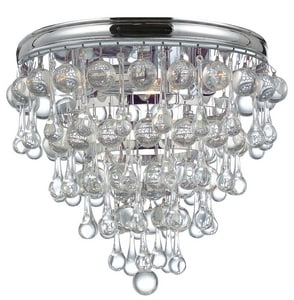 Crystorama Lighting Calypso 180W 3-Light Flushmount Ceiling Fixture C135