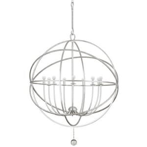 Crystorama Lighting Solaris 60W 9-Light Candelabra E-12 Base Sphere Chandelier C9229