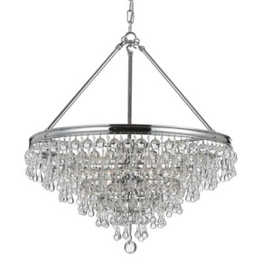 Crystorama Lighting Calypso 60W 6-Light Candelabra E-12 Base Chandelier C136