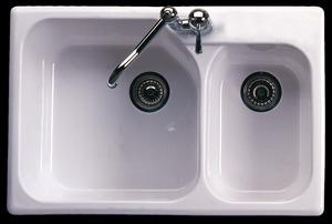 Rohl Allia 1-Hole 2-Bowl Undermount Kitchen Sink R631700