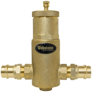 Webstone Company Pro-Connect™ 1 in. Forged Brass Air Separator WEB78004