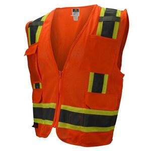 Radians XXL Size Heavy Duty Safety Vest with Solid Twill in Hi-Viz Orange RSV62ZOM2X at Pollardwater