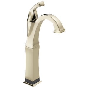 Delta Faucet Dryden™ 1-Hole Vessel Lavatory Faucet with Single Lever Handle with Rigid Spout and 9-1/8 in. Spout Height D751TDST