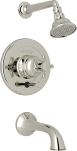 Rohl Country Bath 2 gpm Pressure Balancing Tub and Shower Trim with Showerhead and Shower Arm RAKIT32EXM