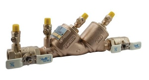 Apollo Conbraco FNPT Bronze Double Check Backflow Preventer with Ball Valve A4ALF10A2F