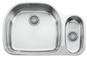 Franke Consumer Products Prestige 2-Bowl Kitchen Sink in Stainless Steel FPCX16009
