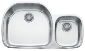 Franke Consumer Products Prestige 2-Bowl Kitchen Sink with Right Hand Small Bowl FPCX12009