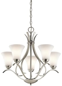 Kichler Lighting Keiran™ 15-1/2 in. 100W 5-Light Medium E-26 Ceiling Mount Chandelier KK43504