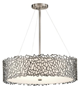 Kichler Lighting Silver Coral 100W 4-Light Chandelier or Pendant KK43347