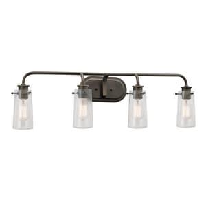 Kichler Lighting Braelyn 60W 4-Light Medium E-26 Base Incandescent Bath Light KK45460