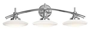 Kichler Lighting Structures 100W 3-Light Mini Can Base Halogen Bath Light KK6463