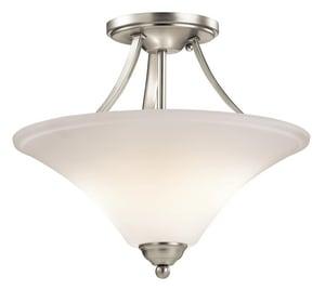 Kichler Lighting Keiran™ 75W 2-Light Medium Incandescent Semi-Flush Ceiling Light KK43512