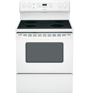 General Electric Appliances Hotpoint® 30 in. 5 cf 4-Smooth Top Burner Freestanding Electric Range GRB780DH