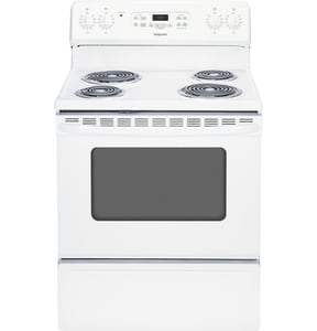 General Electric Appliances Hotpoint® 30 in. 5 cf 4-Coil Burner Freestanding Electric Range GRB720DH