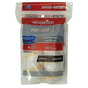 Wooster 4-1/2 x 1/2 in. Nap Roller 2-Pack WRR303412