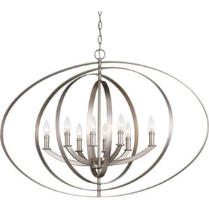 Progress Lighting 60W 8-Light Candelabra Pendant PP3791