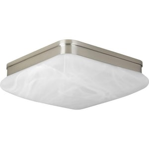 Progress Lighting Appeal 3-3/4 x 11 in. Close-to-Ceiling Light Fixture with Alabaster Glass PP3551