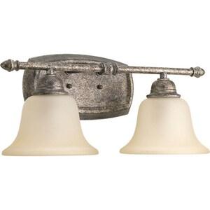 Progress Lighting Spirit 17-3/4 in. 100W 2-Light Bath Light PP2136