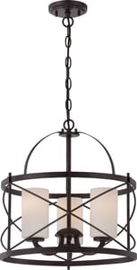 Nuvo Lighting Ginger 100W 3-Light Pendant Light Fixture in Old Bronze N605337