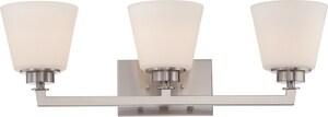 Nuvo Lighting Mobili 100W 3-Light Vanity Light Fixture N605453