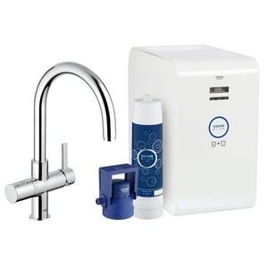 Grohe Blue® 1-Hole Deckmount Filtered Water Dispenser with Double Lever Handle in Starlight Polished Chrome G31251001