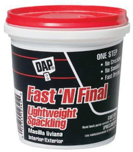 DAP Fast 'N Final® 8 oz. Lightweight Spackling D12140
