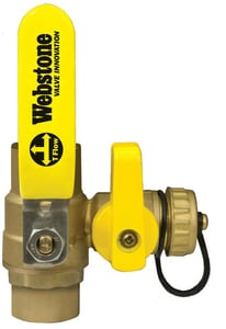 Webstone Company Pro-Pal Series® Copper Brass Full Port Ball Valve with Reversible Handle W5061W