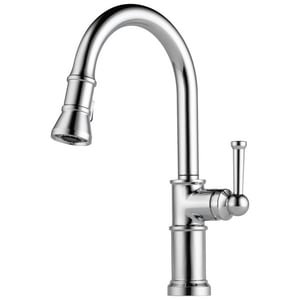 brizo artesso 1 hole pull down kitchen faucet with single lever handle and - Pull Down Kitchen Faucet