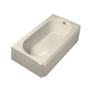 Kohler Memoirs® 17-7/16 x 60 x 33-3/4 in. 52 gal 3-Wall Alcove Bathtub with Right Hand Drain K722