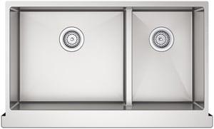 Kohler Strive™ 2-Bowl Stainless Steel Apron Front Undermount Kitchen Sink with Rear Drain K5416-NA