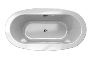 Jacuzzi Bravo™ 65-1/2 x 35-5/8 in. Acrylic Oval Drop-In Air Bathtub with Center Drain and J2 Basic Control JBRA6636ACL2XX