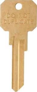 Kaba Ilco Weiser Nuetor Bow Brass Key (50 per Box) IDNDKW1