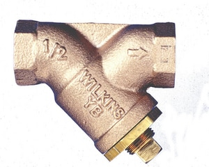 Wilkins Regulator 400# Threaded Brass, Bronze, Cast Bronze and Stainless Steel Wye Strainer WYB