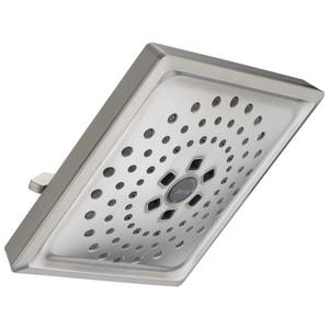 Delta Faucet 2 gpm 3-Function Square Raincan Showerhead D52684