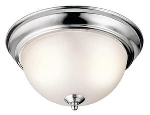Kichler Lighting 11-1/4 in. 60W 2-Light Flushmount Ceiling Light KK8111