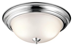 Kichler Lighting 15-1/4 in. 60W 3-Light Flushmount Medium Ceiling Light KK8116