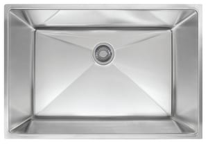 Franke Consumer Products Planar 1-Bowl Undermount Kitchen Sink with Rear Center Drain in Stainless Steel FPEX11028