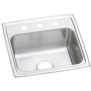 Elkay Gourmet Pacemaker® 19 x 18 in. Stainless Steel Single Bowl Top Mount Sink EPSR19181