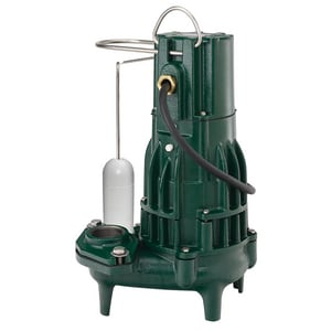Zoeller Waste-Mate 115V 1/2 HP Cast Iron Automatic Sewage Pump Z2920001