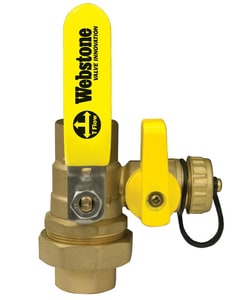 Webstone Company Pro-Pal Series® IPS x Sweat Brass Full Port Ball Valve with Reversible Handle W5043W