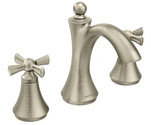 Moen Wynford™ 3-Hole Fixed Lavatory Faucet Trim with Double Cross Handle MT4524