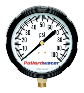 Thuemling Industrial Products 3-1/2 in. 60 psi Glycerine Pressure Gauge T6104073 at Pollardwater